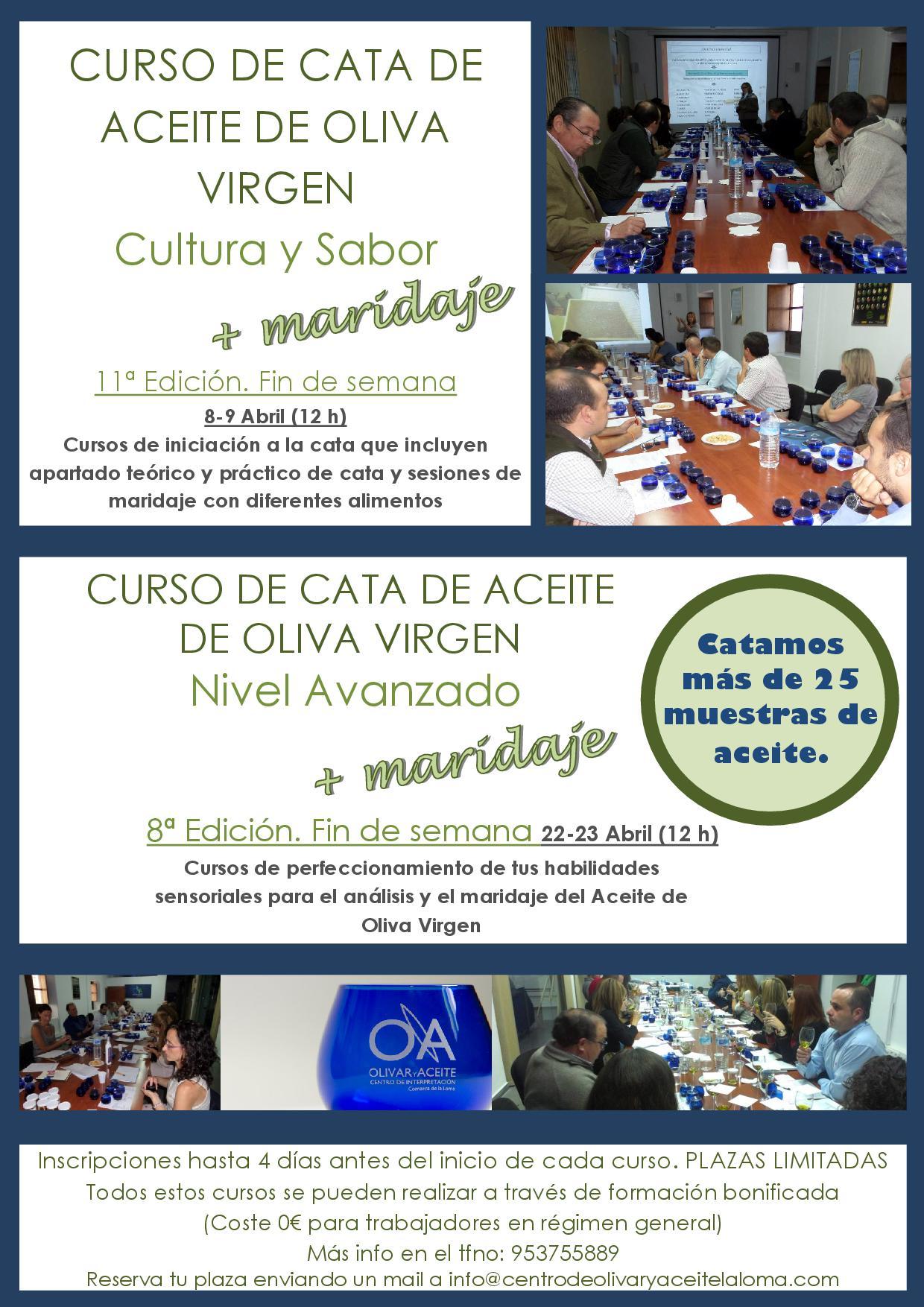 Cartel Nuevos Cursos de Cata Fin de Semana Abril 2016