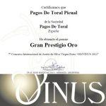 Premio Gran Prestigio Oro