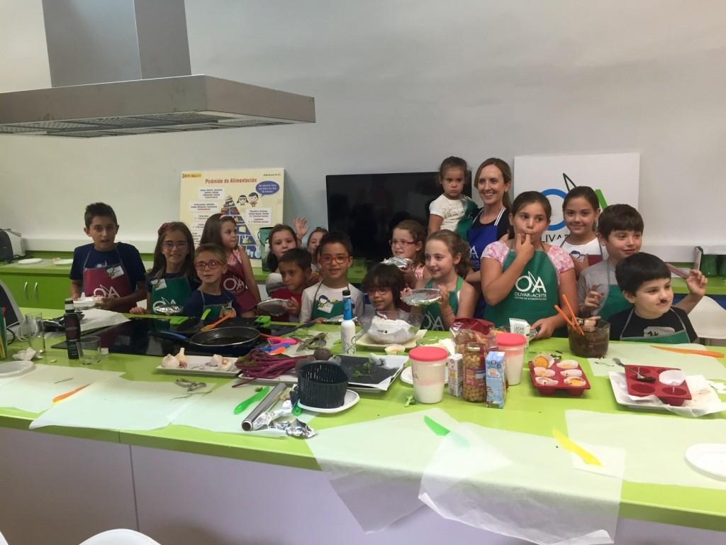 foto de grupo del taller de cocina